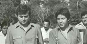 Xavier Rosado,con Carlos Joaquín en 1981 cuando representaba a la juventud política