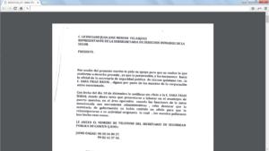 Carta Sara Frías