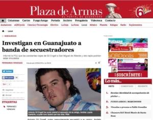 La prensa de Querétaro anuncia la captura del secuestrador en Mayo de 2016, del círculo inmediato de Remberto Estrada